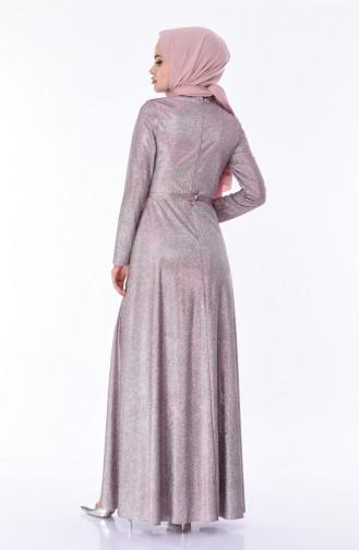 Damson İslamitische Avondjurk 9006-02