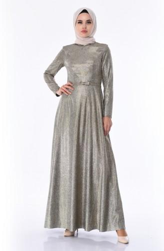 Gold Hijab-Abendkleider 9006-04