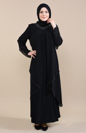 Black İslamitische Avondjurk 3146-01