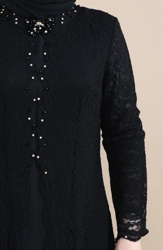 Grosse Grösse Spitzen Abendkleid 5070-04 Schwarz 5070-04