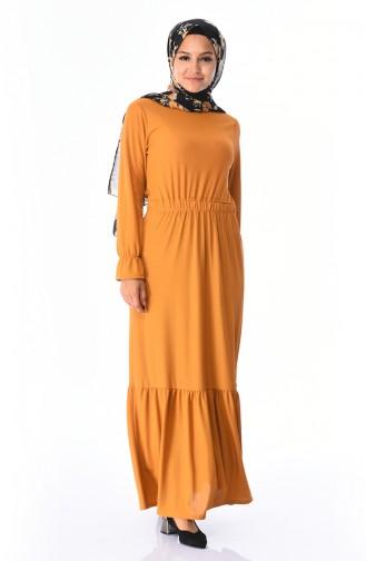 Mustard İslamitische Jurk 2248-02