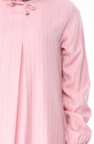 Robe Viscose Manches élastique 0552-08 Rose 0552-08