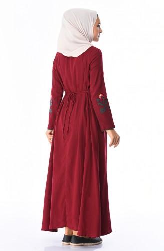 Robe Brodée 22203-04 Bordeaux 22203-04