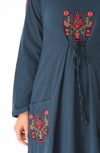 Robe avec Poche 22205-06 Pétrol 22205-06