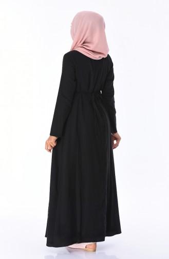 Robe Brodée 22215-02 Noir 22215-02