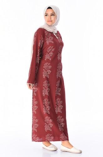 Claret red Dress 32201B-02