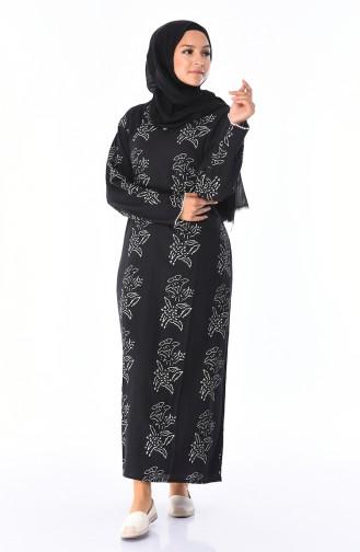 Black İslamitische Jurk 32201B-03