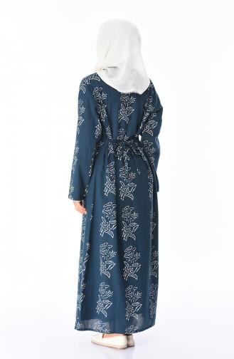 Oil Blue Dress 32201B-04