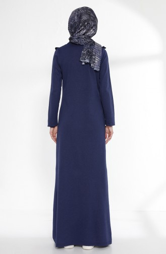 Robe a Froufrous 2992-11 Bleu Marine Clair 2992-11