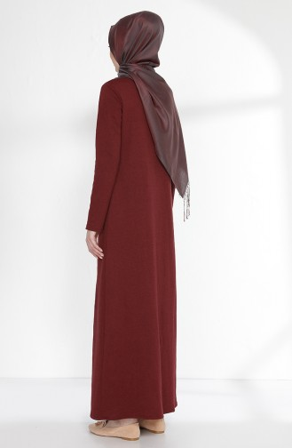 TUBANUR Suit Looking Dress 2895-20 Claret Red Navy Blue 2895-20