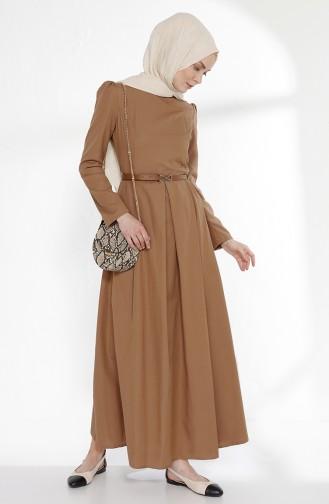 Kleid mit Gürtel 2781-04 Camel 2781-04