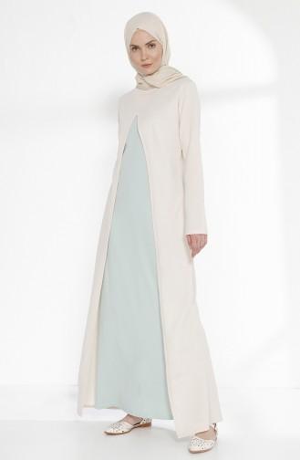 Team aussehendes Kleid 2895-16 Naturfarbe Mandel Grün 2895-16