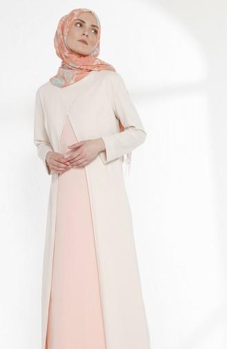 TUBANUR Suit Looking Dress 2895-18 Light Beige Powder 2895-18