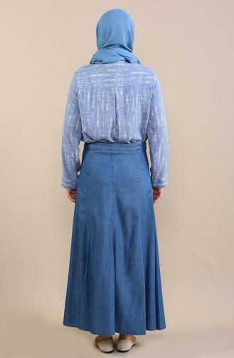 تنورة أزرق جينز 0115-01