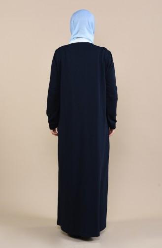 Grosse Grösse Pailletten Abaya  10006-03 Dunkelblau 10006-03