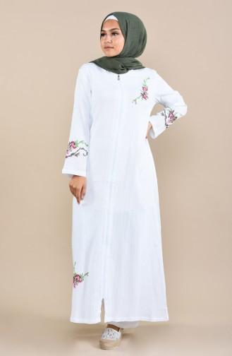 White Abaya 22206-06