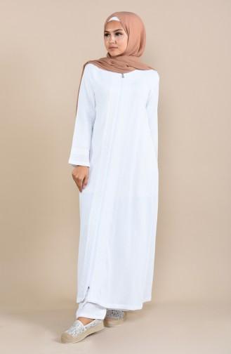 White Abaya 22207-05