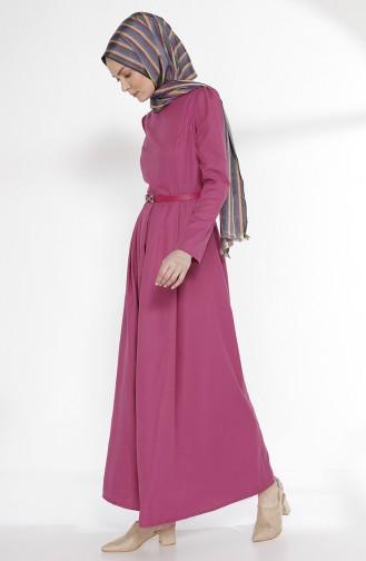 Robe avec Ceinture 2781-10 Fushia 2781-10