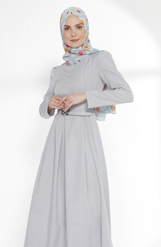 Belted Dress 3159-16 Gray 3159-16