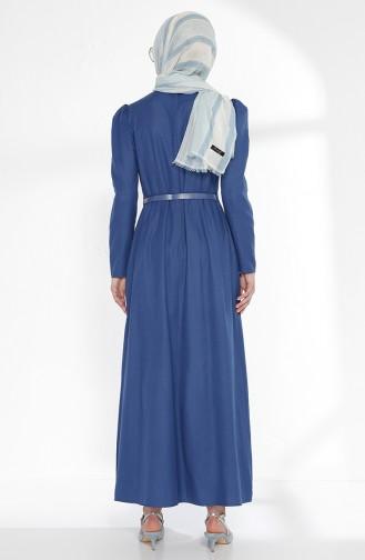 توبانور فستان بتصميم حزام للخصر 2781-06 لون نيلي 2781-06