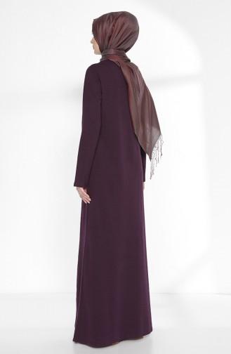 TUBANUR Suit Looking Dress 2895-23 Purple Navy Blue 2895-23
