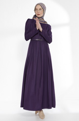 Robe avec Ceinture 2781-08 Pourpre 2781-08