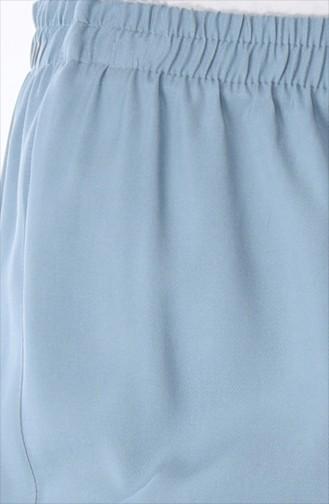 Lastikli Bol Paça Pantolon 2097A-01 Açık Mavi