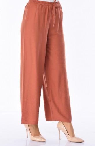 Pantalon Large Tissu Aerobin 2025-03 Brique 2025-03