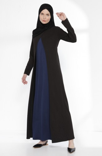 TUBANUR Suit Looking Dress 2895-10 Black Indigo 2895-10