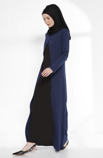 TUBANUR Suit Looking Dress 2895-11 Indigo Black 2895-11