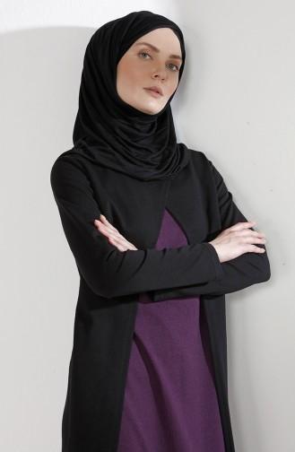 Takım Görünümlü Elbise 2895-06 Siyah Mor
