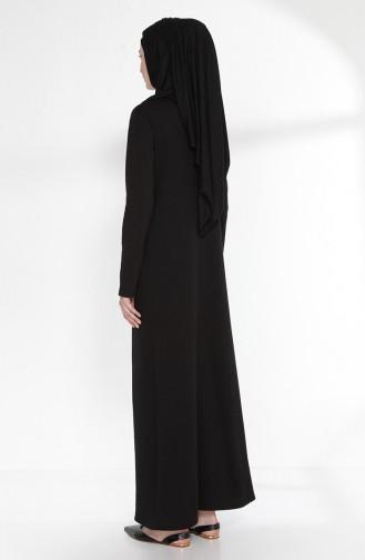 توبانور فستان بتصميم موصول بقطعة 2895-06 لون أسود و بنفسجي 2895-06