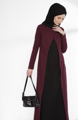 TUBANUR Suit Looking Dress 2895-07 Plum Black 2895-07
