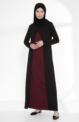 TUBANUR Suit Looking Dress 2895-08 Black Plum 2895-08