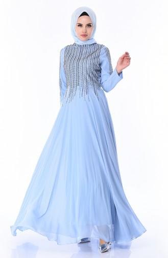 Robe de Soirée 2012-04 Bleu Bébé 2012-04