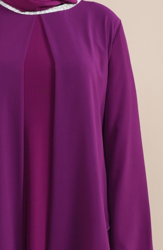 Purple İslamitische Avondjurk 2422-01