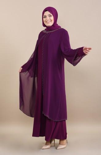 Damson Islamic Clothing Evening Dress 3142-05