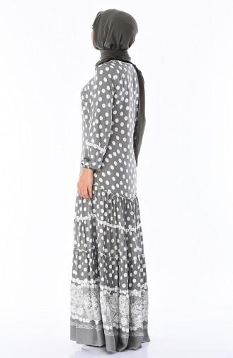 Puantiyeli Yazlık Elbise 8Y3829902-01 Haki