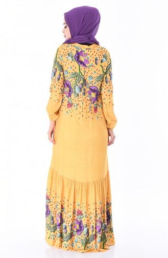 Mustard İslamitische Jurk 8Y3840800-01