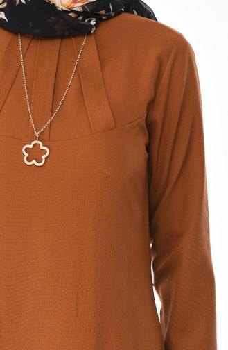 Tunika mit Halskette 3043-08 Tabak 3043-08