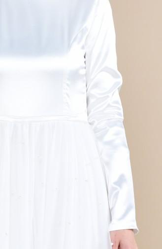 Robe de Soirée Perlées 12002-08 Écru 12002-08