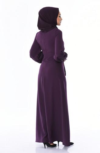 Robe a Paillettes 8055-03 Pourpre 8055-03
