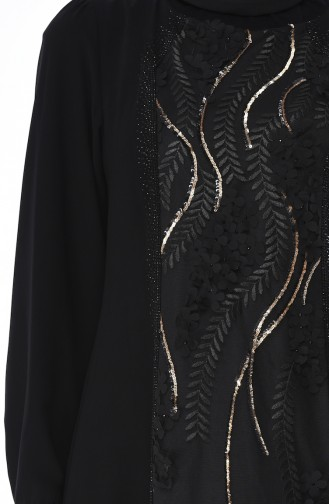 Robe Fleurs Appliquées 7Y3726200-01 Noir 7Y3726202-01