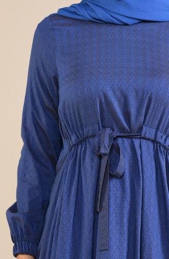 Baumwolle Tunika  1232-04 Dunkel Violett Nerz 1232-04