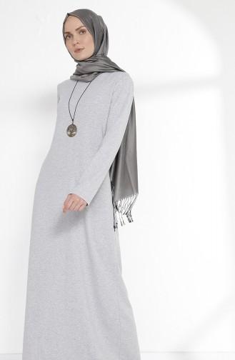 Robe avec Collier 2779-16 Gris Clair 2779-16