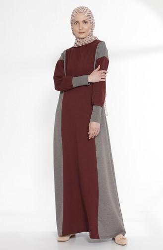 Weinrot Hijap Kleider 2941-14