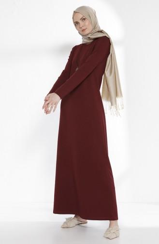 TUBANUR Necklace Two Yarn Dress 2779-04 Claret Red 2779-04