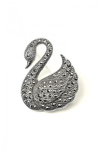 925 Ayar Gümüş Kuğu Motifli BroşANYZK-BROS-002Gümüş