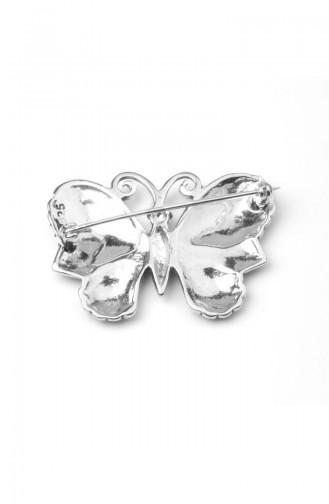 925 Silver Steinige Brosche ANYZK-BROS-009 Silver 009