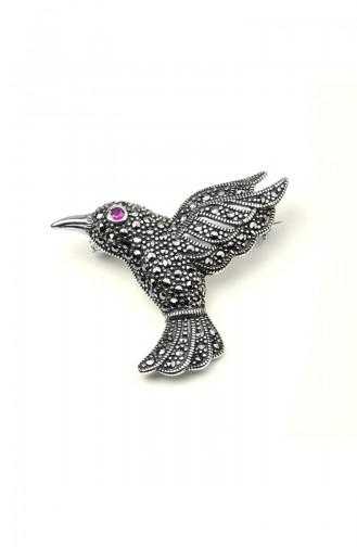 925 Ayar Gümüş Kuş Motifli BroşANYZK-BROS-013Gümüş
